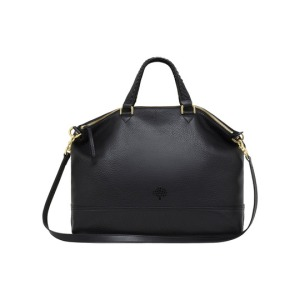 Effie Tote in Black Spongy Pebbled