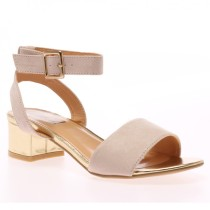 Flo Almond Block Heel Sandals