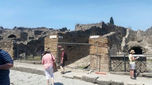 ruins of houses
